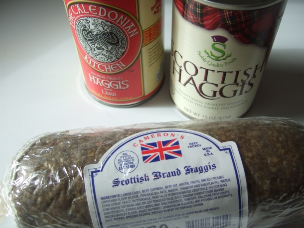 Canned and frozen haggis