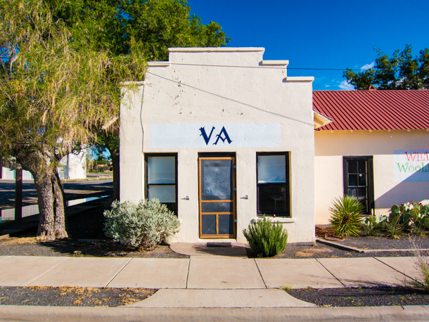 The former Old Borunda Cafe in Marfa, TX