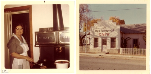Carolina Borunda Humphries and The Old Borunda Cafe ca. 1969