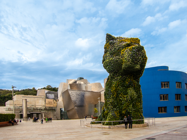 Guggenheim Bilbao Exterior from city side